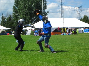 outdoor free sparring from Red Deer Highland Games 2013